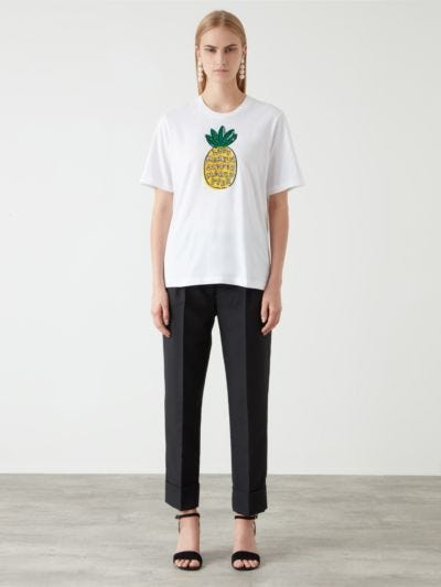 Sequin Jewel Pineapple Anna Tee