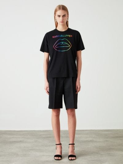 Embroidered Rainbow Lip Alex Tee