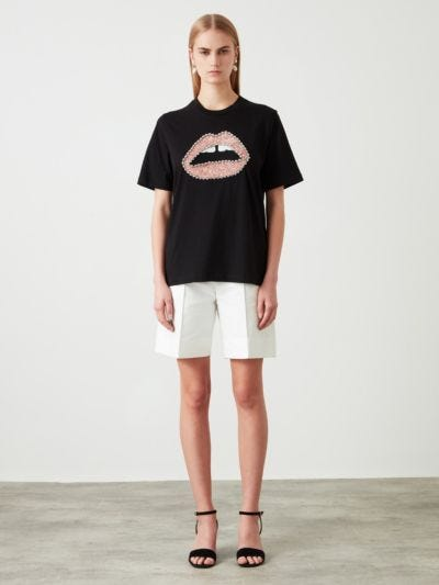 Jewel Sequin Lip Alex Tee