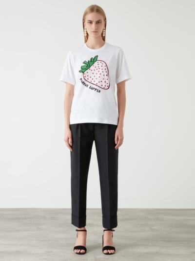 Sequin Embroidered Strawberry Alex Tee
