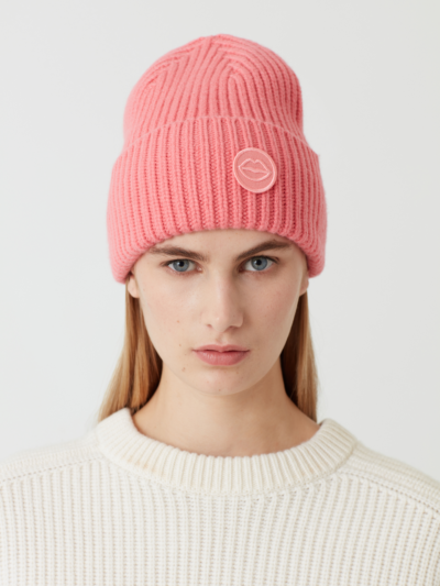 Lip Patch Rib Beanie