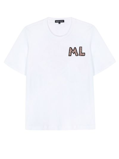 Personalised Alex Relaxed-Fit Crystal Monogram Tee
