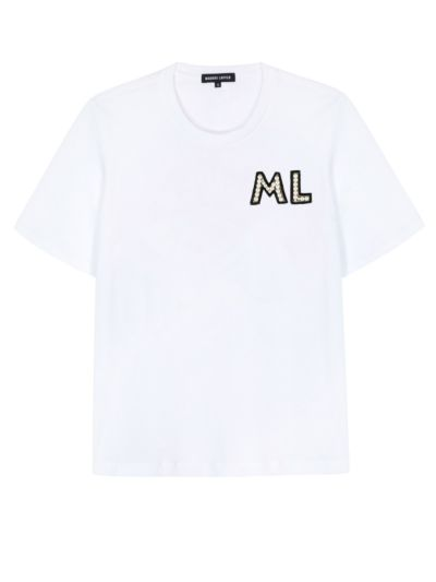 Personalised Alex Relaxed-Fit Pearl Monogram Tee