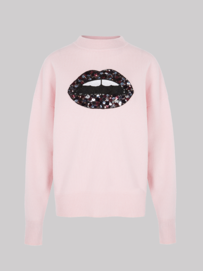 Sequin Lip Patch Ellie Jumper