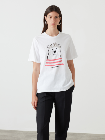 Sequin Polar Bear Alex Tee