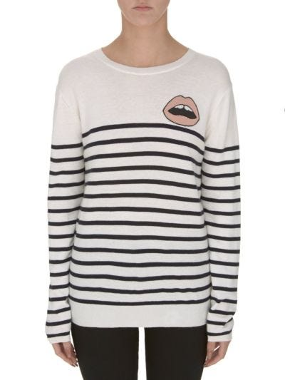 Natalie Breton Stripe Mini Lara Lip Relaxed-Fit Jumper