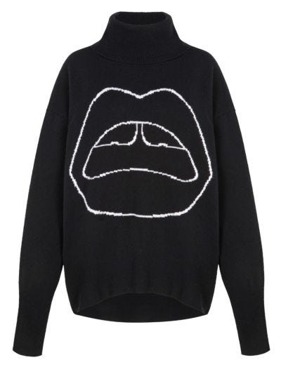 Erin Lara Lip Oversized Jumper