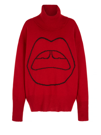 Erin Lara Lip Oversized Roll Neck