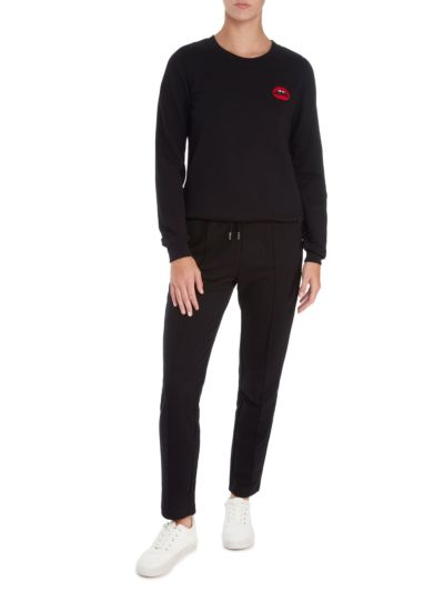 Leonie Embroidered Lara Lip Relaxed-Fit Sweatshirt