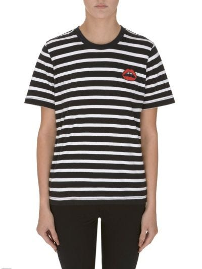 Alex Lara Lip Stripe Relaxed-Fit Tee