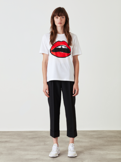 Alex Painted Lip Relaxed-Fit Tee