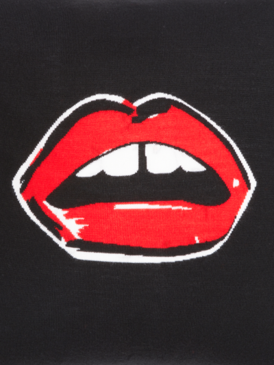 Painted Lip Intarsia Cushion