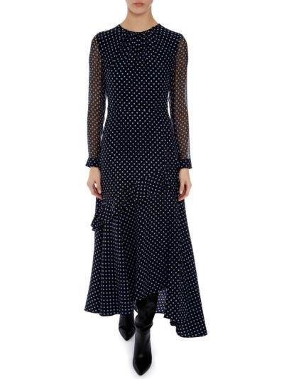 Talia Silk Polka Dot Dress