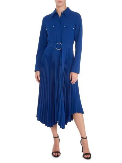 Lily Button Down Pleated Dress