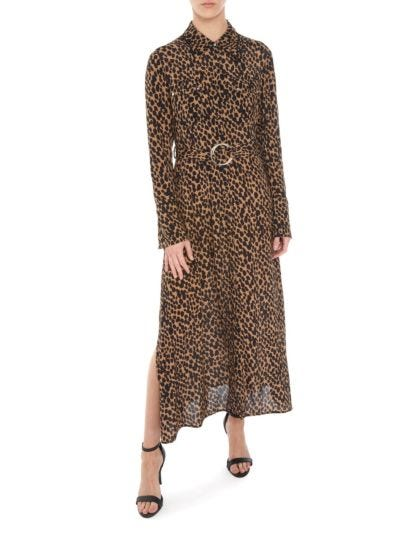 Amanda Leopard Spot Shirt Dress
