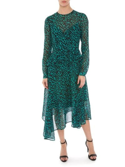 Rosie Leopard Spot Georgette Dress