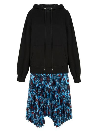 Emilee Pleated Hoodie Dress
