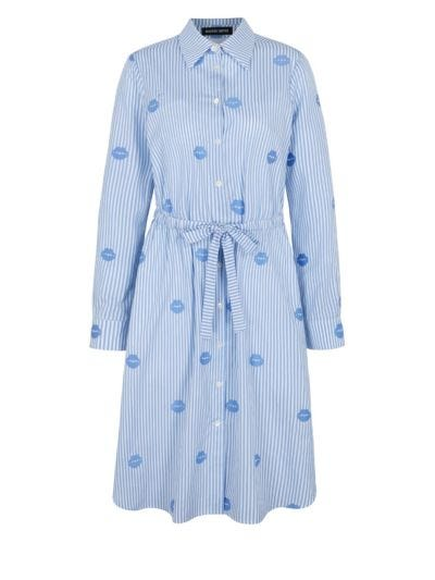 Tyler Stripe Lip Cotton Shirt Dress