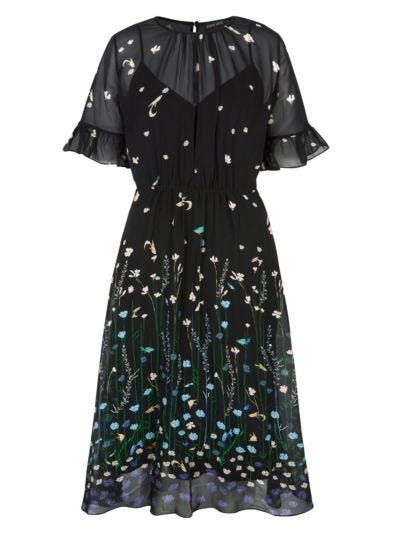 Estelle Underwater Garden Georgette Dress