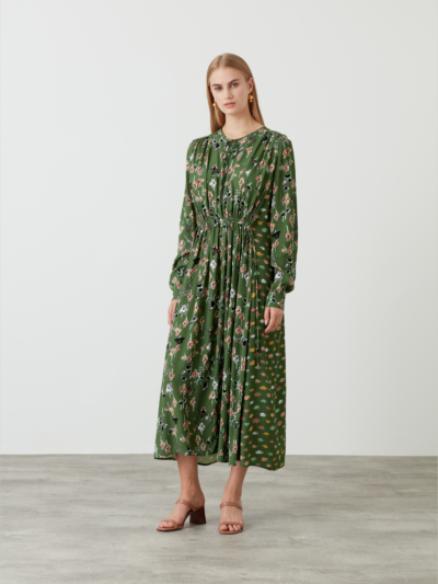 Painters Floral And Lip Evelyn Dress