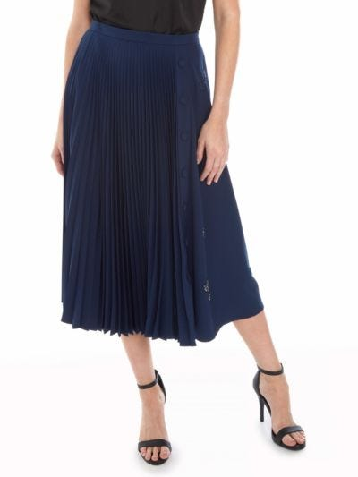 Gemma Arrow Embellished Pleated Skirt