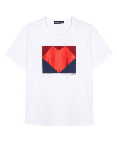 Anna Graphic Lip Relaxed-Fit Tee