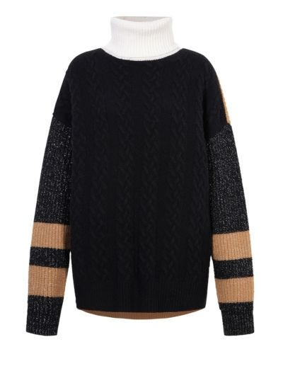 Holly Cable Rib Oversized Rollneck