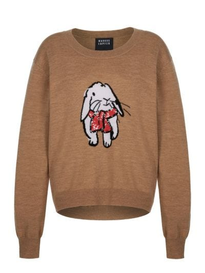 Joey Sequin Cosy Bunny Jumper