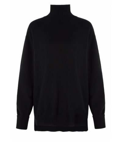 Elaine Cashmere Oversized Roll Neck