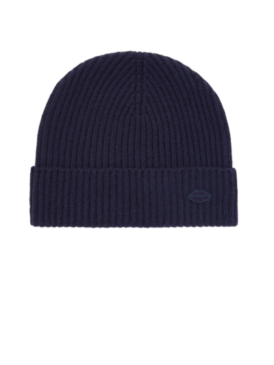 Mini Lip Ribbed Cashmere Beanie