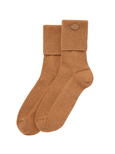 Cashmere Mini Lip Ribbed Ankle Sock