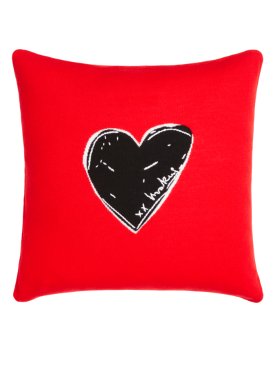 Heart Intarsia Cushion