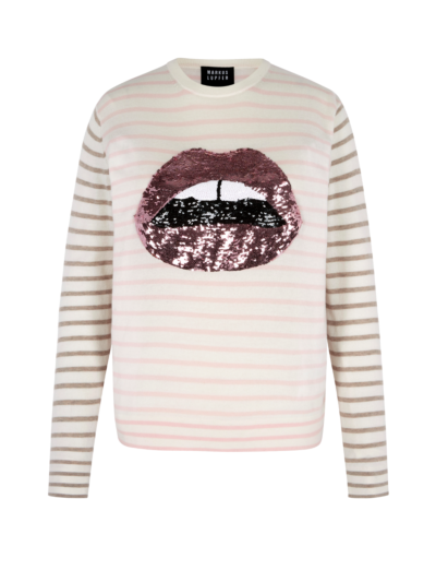 Mia Breton Metallic Lip Slim-Fit Jumper