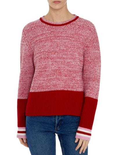 Mia Twist Marl Slim-Fit Jumper
