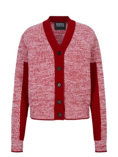 Paula Twist Marl Relaxed-Fit Cardigan