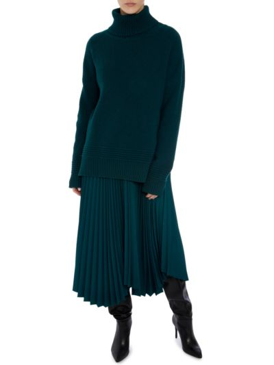 Holly Cable Rib Oversized Roll Neck