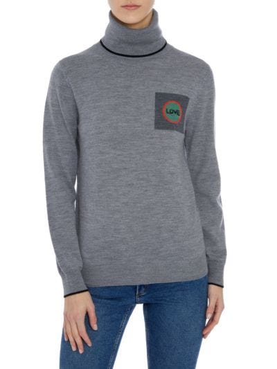 Mia Love Circle Rollneck Slim-Fit Jumper