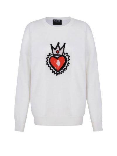 Natalie Sacred Heart Crown Relaxed-Fit Jumper