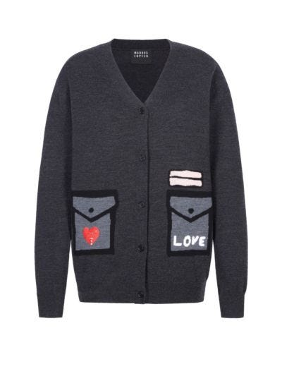 Linda Tromp L'oeil Pocket Relaxed-Fit Cardigan