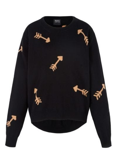 Joey Intarsia Arrow Oversized Jumper
