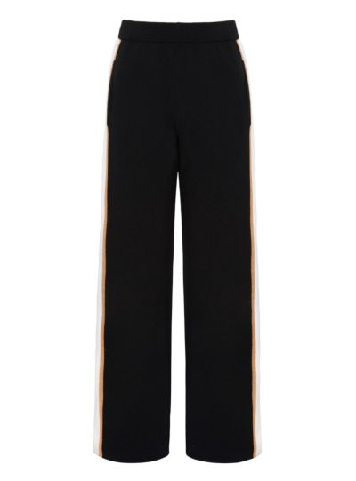 Becca Tri-Stripe Knit Cropped Trouser