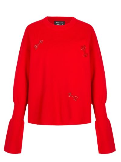 Nina Embellished Arrow Relaxed-Fit Jumper