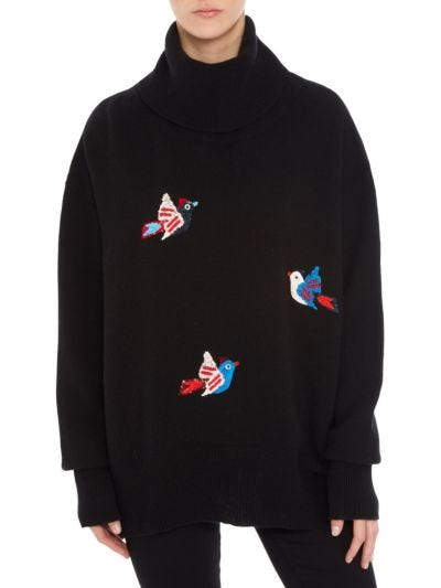 Erin Sequin Flying Birds Oversized Rollneck