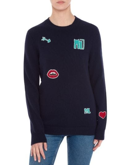 Mia Multi Patch Slim-Fit Jumper