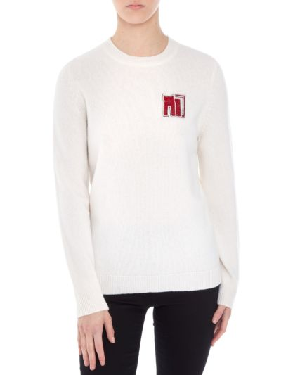 Mia Small Cat Slim-Fit Jumper