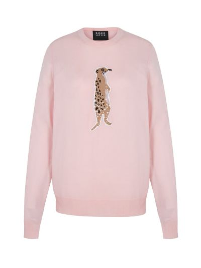 Mia Sequin Meerkat Slim-Fit Jumper