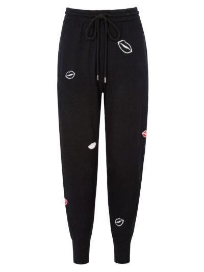 All Over Intarsia Lip Joggers