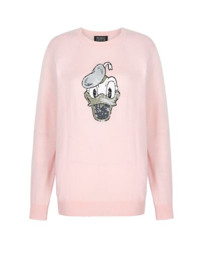 Natalie Disney Donald Duck Sequin Relaxed-Fit Jumper