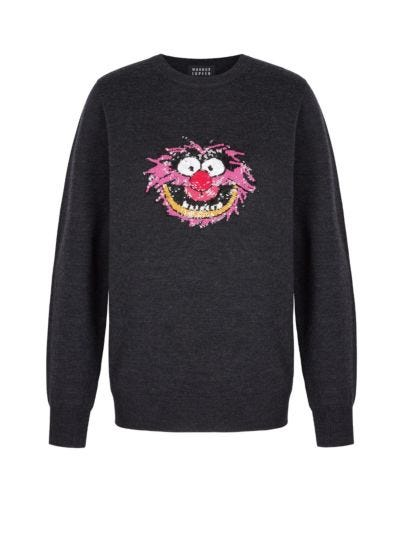 Mia Disney Animal Sequin Slim-Fit Jumper