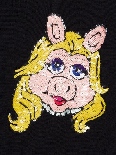 Natalie Disney Miss Piggy Sequin Relaxed-Fit Jumper